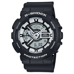 66989e83c CASIO G-SHOCK Black   White Series Monotone Watch GShock GA-110BW-1A ...