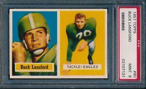1957-Topps-Football-Buck-Lansford-90-PSA-9-EAGLES-POP-2-MINT-TOUGH-CARD