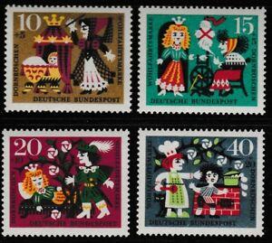Sleeping-Beauty-set-of-4-stamps-mnh-1964-Germany-B400-3-fairy-tale
