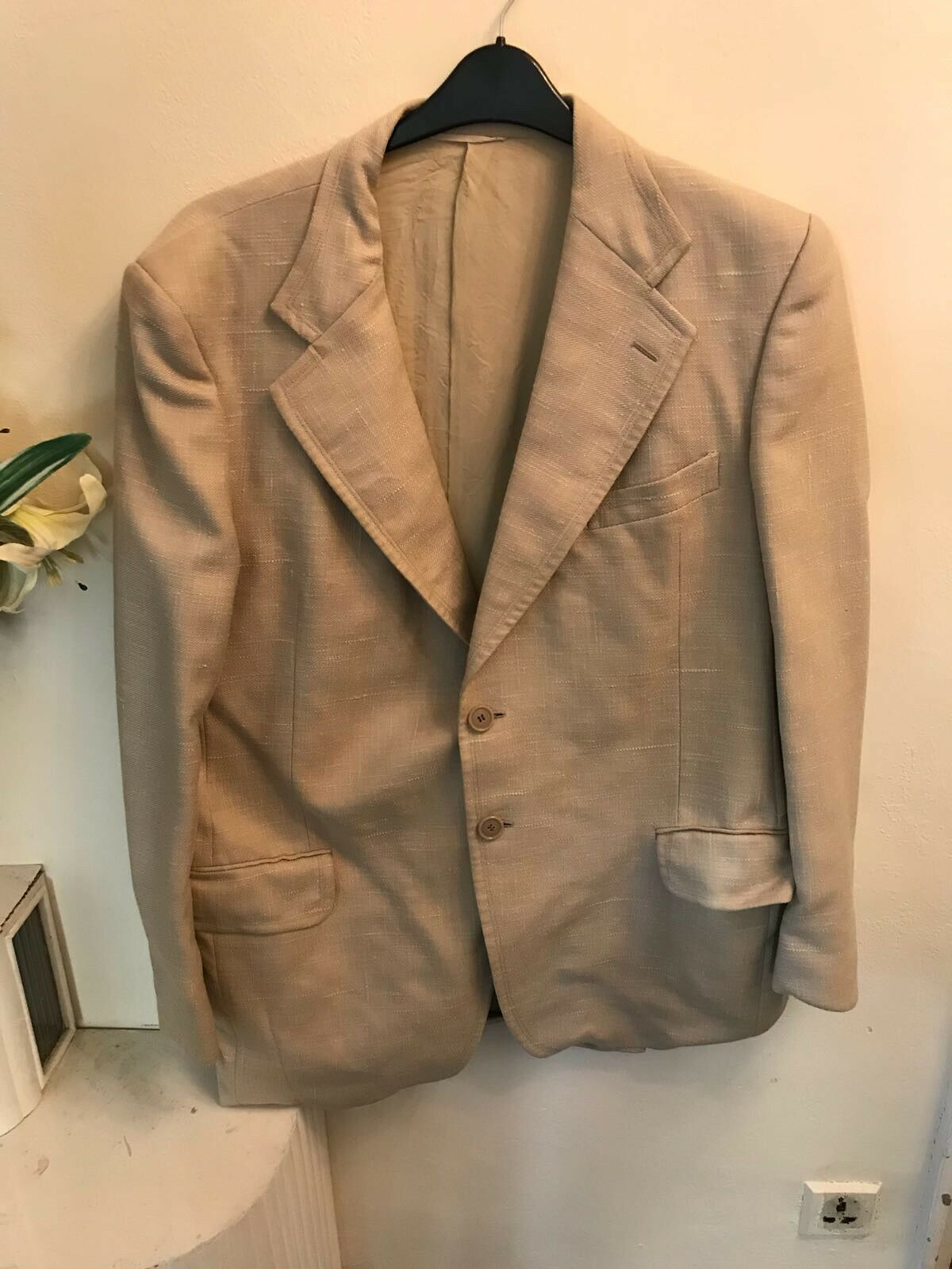 Harrods of london Mens Coat Blazer chest size 44 cream colour