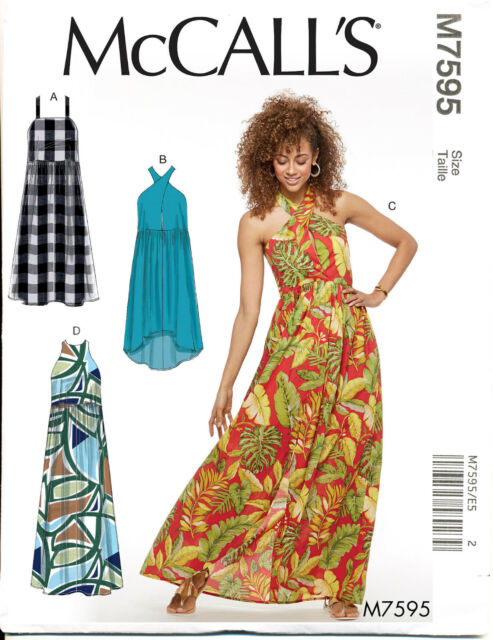 Mccall\'s Sewing Pattern 7595 Misses Sz 14-22 Halter Neck Pullover ...