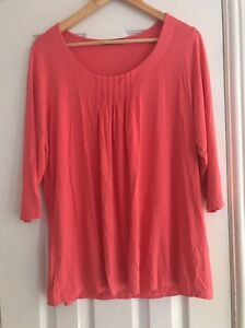 68d61934015de4 Women's Marks And Spencer Top Size 18 In Coral Colour | eBay