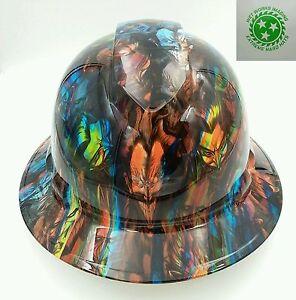 FULL BRIM Hard Hat custom hydro dipped , OSHA approved JOKERS ON ACID !! NEW !!