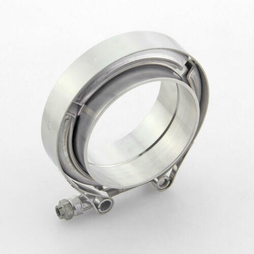 """2.75/"""" 2-3//4 inch V-Band Clamp /&Flanges Kit For Turbo Downpipe"""