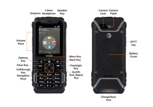 SONIM XP5 XP5700 Unlocked Black 4GB Cell Phone -Handset Only (HSO) -Grade A