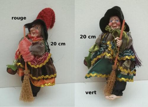 porte bonheur,2 couleurs au choix  **G7 belle sorcière 20 cm,collection,vitrine