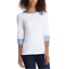 NEW-NAUTICA-WOMEN-039-S-3-4-CUFFED-SLEEVE-CHAMBRAY-CASUAL-TOP-VARIETY thumbnail 2