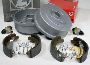 BMW-3er-E30-Bremstrommel-Bremsbacken-Radzylinder-Zubehoer-Satz-fuer-hinten