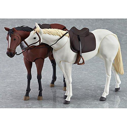 White Figma Action Figure kb04c Max Factory Horse