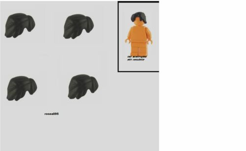 4 CUSTOM LEGO BLACK Maverick Hair LOT new