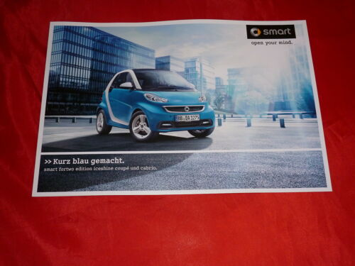 """CABRIOLET /""""Edition iceshine/"""" speciale prospetto modello di 2012 SMART FORTWO COUPE"""