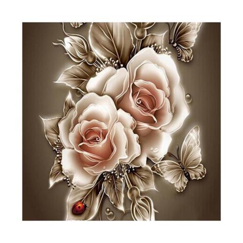DIY 5D Diamond  Retro Flower  Painting Embroidery Home Decor Craft Home Decor