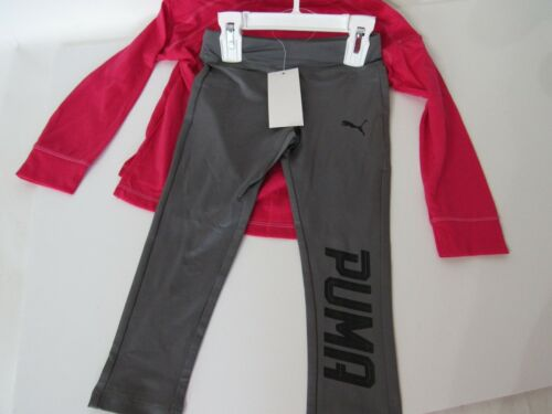 Leggings /& Graphic SPEED QUEEN Long Sleeve Shirt  2T Puma Toddler Girls 2pc Set