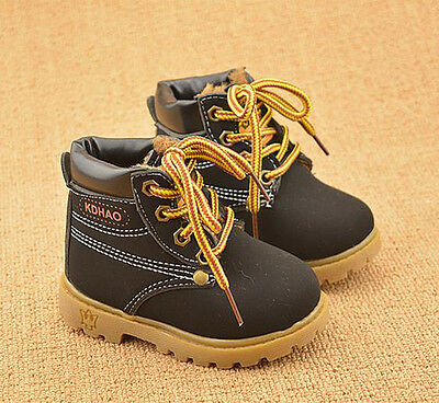 Winter Autumn Baby Child Kids Boys Girls Army Style Martin Boot Lace Boots Shoes