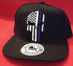 Herren-Accessoires Punisher Blue Line Hat USA Flag Baseball