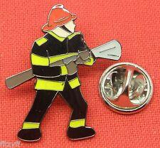 Fireman Lapel Hat Tie Cap Pin Badge Firefighter Fire Fighter Service Man Brooch