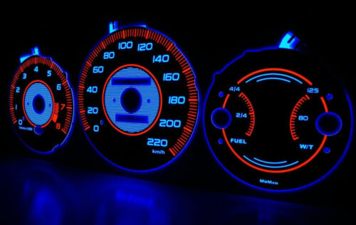 97-01 HONDA CRV plasma tacho glow gauges tachoscheiben dials indiglow Style 2