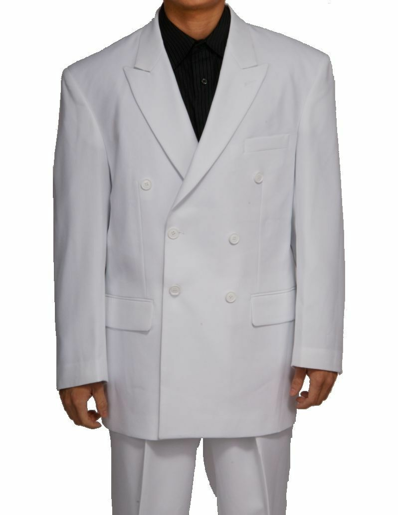 Mens' double breasted suit White ( come with pants) by Fortino Landi Stye P