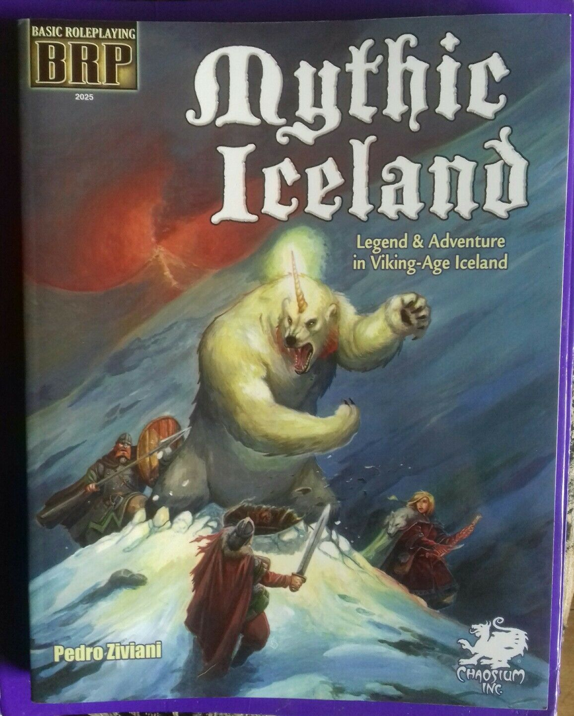 Mythic Iceland chaosium fantasy BRP RPG basic roleplaying book