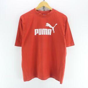 Details zu Women's PUMA T Shirt in Red Size 2XL Short Sleeve Big Logo Tee EF5487