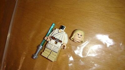 Genuine Lego Star Wars Luke Skywalker  Long Locks White Eyes sw0273 set 8092