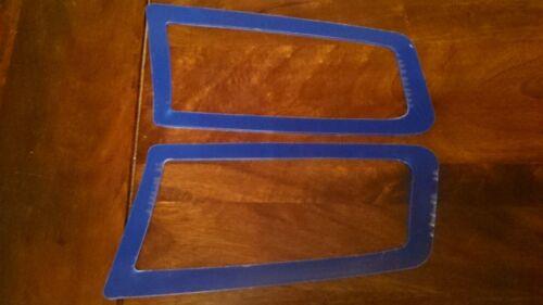 FOCUS RS MK2 STYLE ABS PLASTIC UNDER BONNET VENT TRIM PLATES PERFORMANCE BLUE