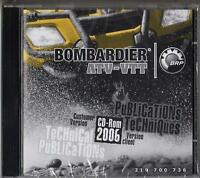 2006 Bombardier Atv-vtt Service,parts,owners Manual On Cd Rom 219 700 736 (947)