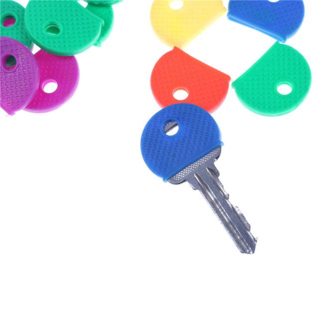 10pcs/20pcs Mixed Color Soft Key Top Cover Caps Case Keyring ID Marker 9C
