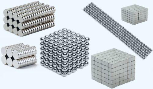 Starke Neodym Magnete Würfel Scheiben Kugeln Büro Basteln Befestigung Neu