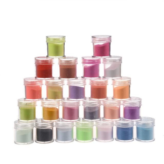 1X(Decoracion de arte de una Polvo polvos acrilico de 24 colores W9Y1)