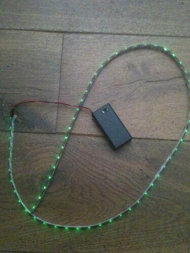 A Batteria Luce LED Verde Striscia 9v 500mm IMPERMEABILE