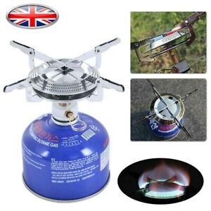 Portable Mini Outdoor Stove Compact Camping Hiking Fishing Gas Heater Cooker