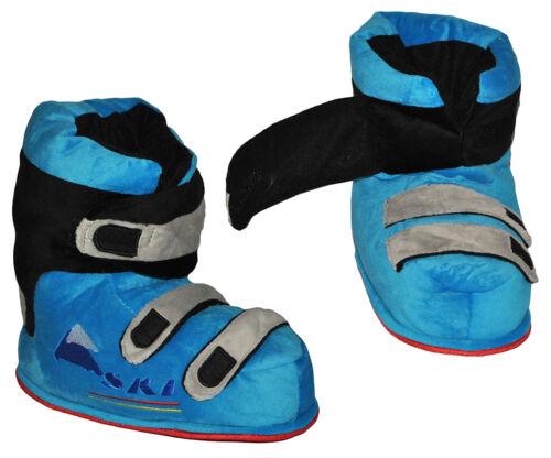 Größenwahl Gr Hausschuhe gefütt 16 bis 44 SUPERWARM als blaue Skischuhe
