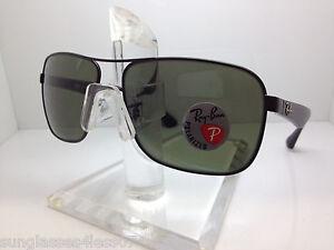 af321f1f7df New Ray Ban Sunglasses RB 3516 006 9A 59MM BLACK GREEN POLARIZED ...