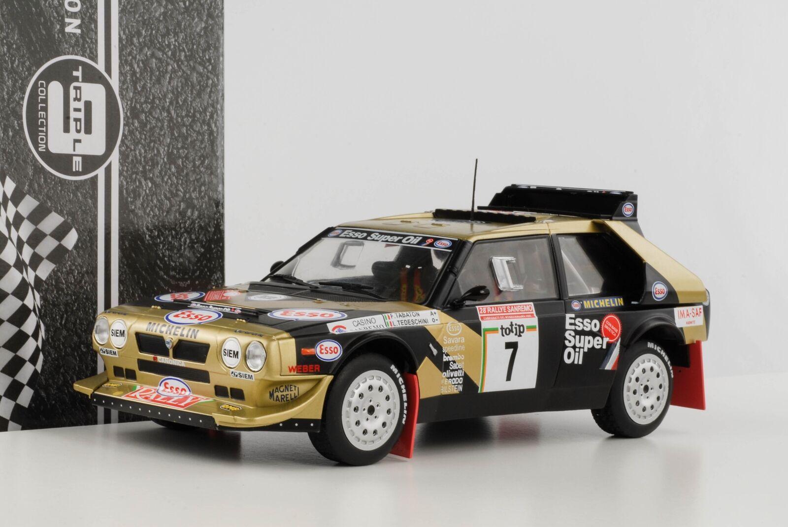 Lancia Delta S4 Course San Remo  7 Tabaton Esso 1986 1 18 Triple9 Diecast
