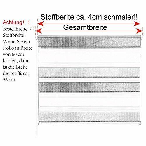 Seitenzugrollo Doppelrollo Klemmfix Rollo Fenster Tür  Dunkelgrau 13SCL