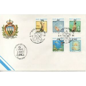1991-FDC-A-A-S-F-N-San-Marino-Things-Gestures-And-Affected-By-Any-Day