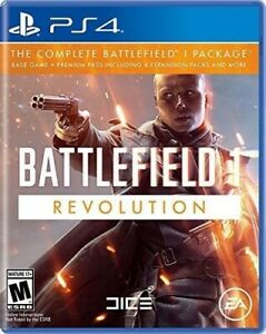 PLAYSTATION-4-PS4-VIDEO-GAME-BATTLEFIELD-ONE-REVOLUTION-EDITION-BRAND-NEW-SEALED
