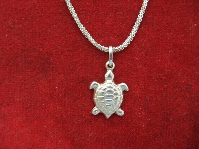 18K White gold Turtle on  20  18K  Chain