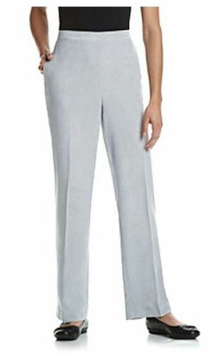 Alfred Dunner Women/'s Pants Northern Lights Collection 14 or 16 Blue or Silver