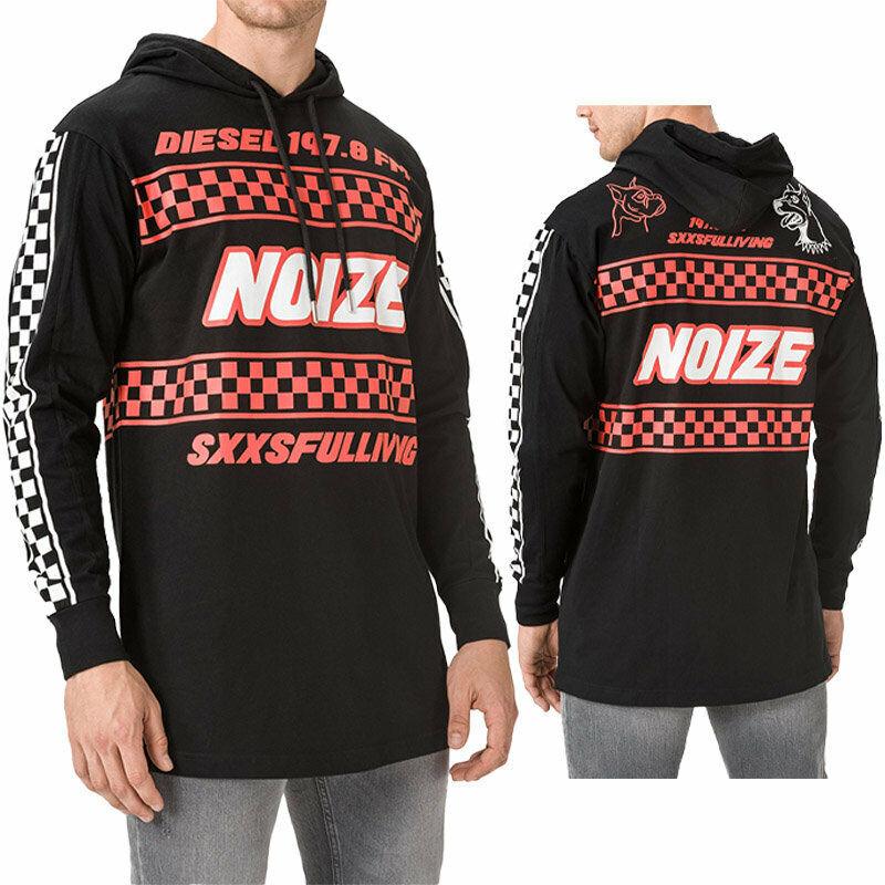 DIESEL T PRODIGY Mens Sweatshirt Hoodie Regular Fit Casual Long Sleeves Pullover