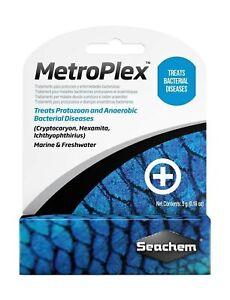 Seachem-MetroPlex-Metronidazole-Parasite-Bacteria-SALTWATER-FRESHWATER-Aquarium
