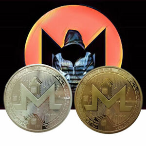 Gift-Collection-Souvenir-38mm-Round-Coin-Commemorative-XMR-Silver-Gold-Monero