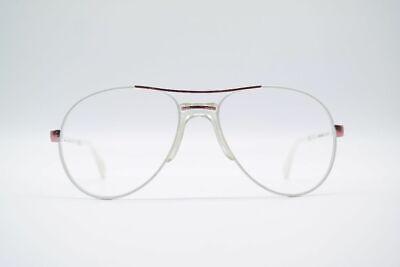 Vintage On Line 8716 56[]18 135 Weiß Oval Brille Brillengestell Eyeglasses
