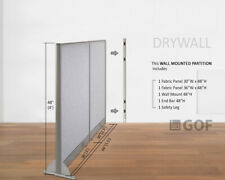 Gof Wall Mounted Office Partition Divider 66w X 48h 66w X 60h 66w X 72h