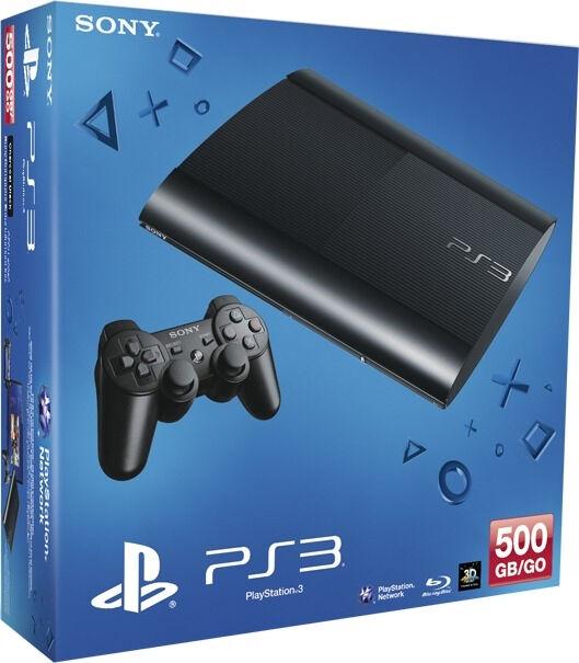 Sony Playstation 3 Super Slim 500GB Schwarz inklusive 27 PS3 Spiele