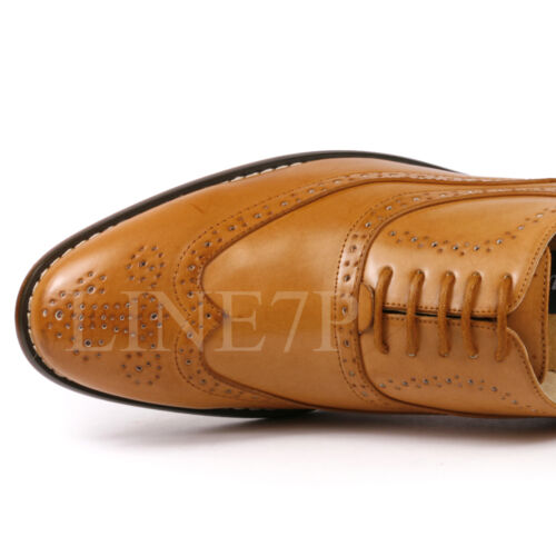 Men/'s Wing Tip Perforé Lacets Mode Oxford Chaussures