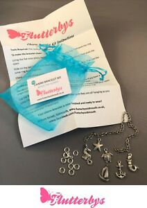 Charm-bracelet-Kit-with-instructions-perfect-Gift-birthday-party-idea