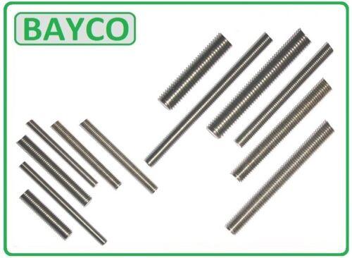 Fileté Barre A2 Acier Inoxydable coupées à longueur 10 mm diverses longueurs disponibles. M10