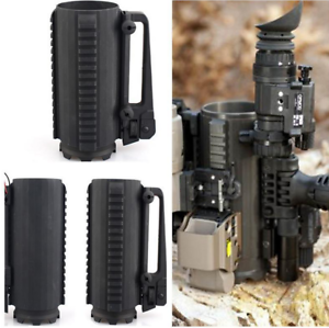 Tactical Mil-Spec Aluminum Detachable Carry Battle Rail Mug w A2 Rear Sight Cup